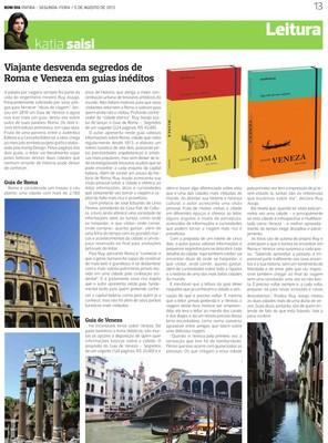 Viajante desvenda segredos de Roma e Veneza