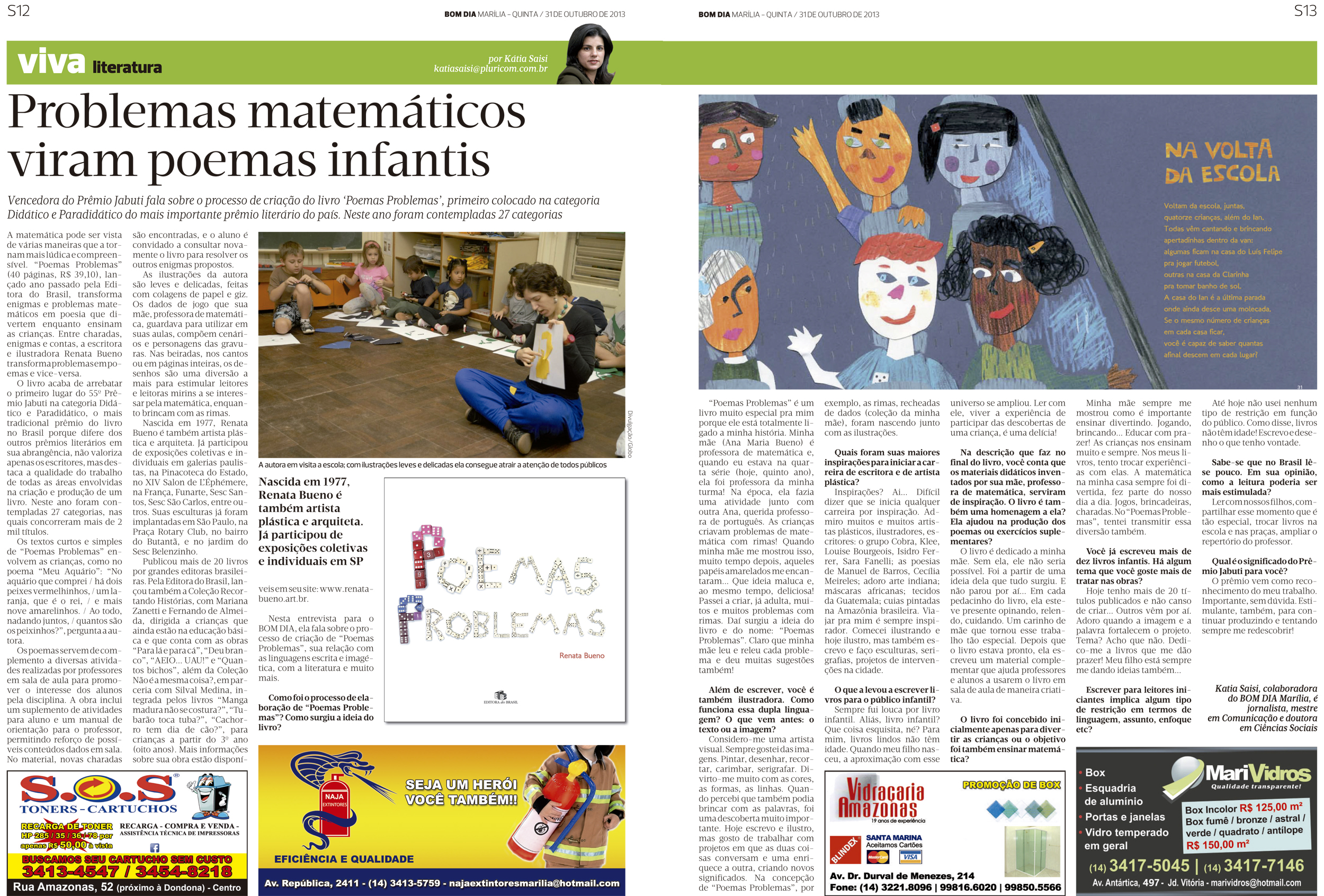 Problemas matemáticos viram poemas infantis
