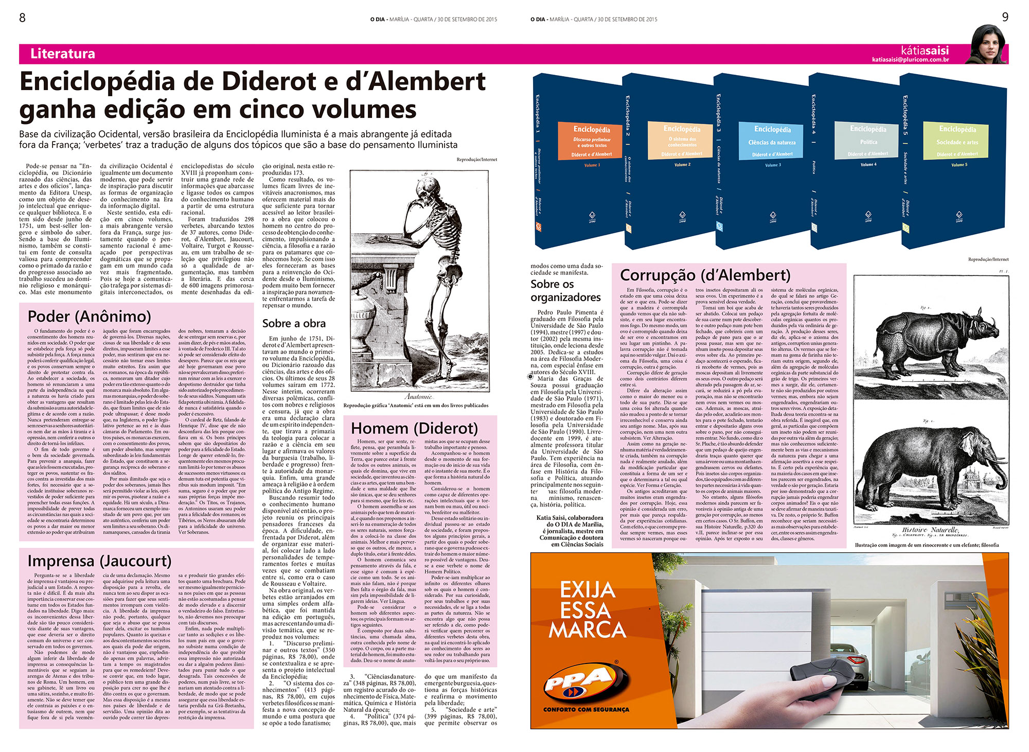 Enciclopédia de Diderot e d'Alembert ganha edição em cinco volumes