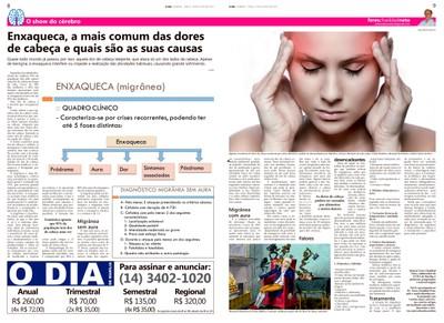 Coluna O Show do Cérebro no jornal O Dia - 28/07/2015