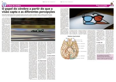 Coluna O Show do Cérebro no jornal O Dia, em 19/04/2016