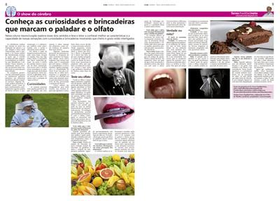 Coluna O Show do Cérebro no jornal O Dia, em 08/03/2016