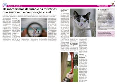 Coluna O Show do Cérebro no jornal O Dia, em 06/04/2016