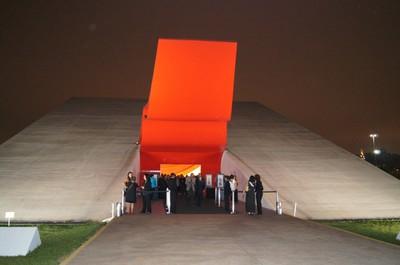 A chegada dos convidados à solenidade realizada no Auditório Ibirapuera