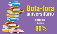 Bota-fora universitário oferece mais de 300 títulos com até 80% de desconto