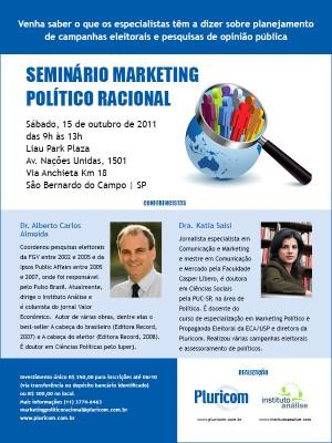 Seminário Marketing Político Racional