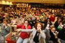 Público se exercita no lançamento
