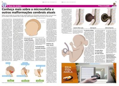 Coluna O Show do Cérebro no jornal O Dia, em 15/12/15