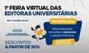 1ª Feira Virtual das Editoras Universitárias vai até sexta-feira